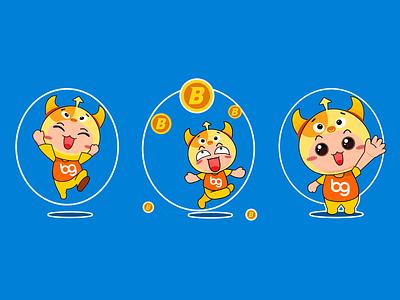 Blockchain-Mascot design illustration