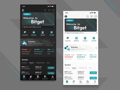 Blockchain exchange homepage design app ux design ui