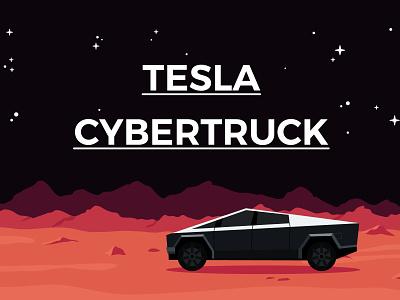 Tesla Cybertruck vector graphicdesign illustrator illustration design illustration space mars scifi elon musk cybertruck