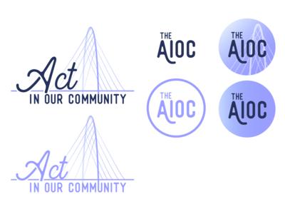The AIOC brand concept WIP brand identity logo brand and identity branding