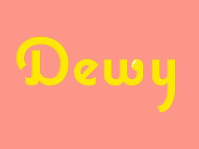 Dewy logo brand and identity branding