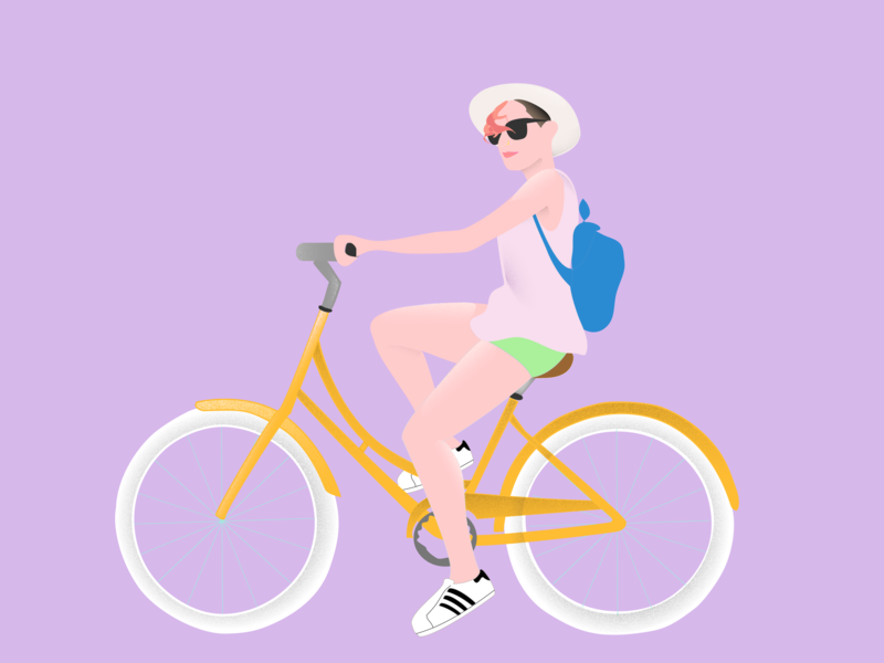 Queers on Bikes bikes illustration hand drawn
