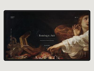 Göteborg Gallery baroque art typography design webdesign interface website web design web ux ui concept