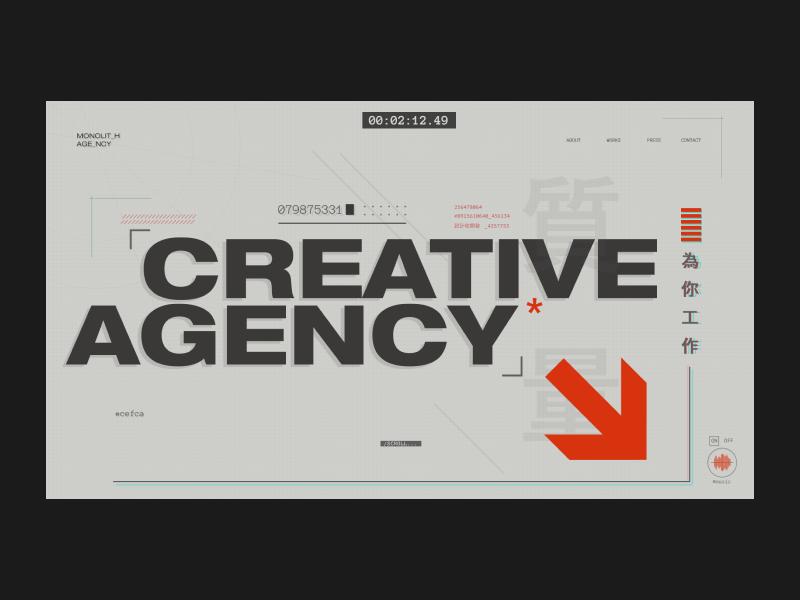MONOLIT_H AGE_NCY photography blog photo typography fashion design webdesign website interface web design concept web ux ui