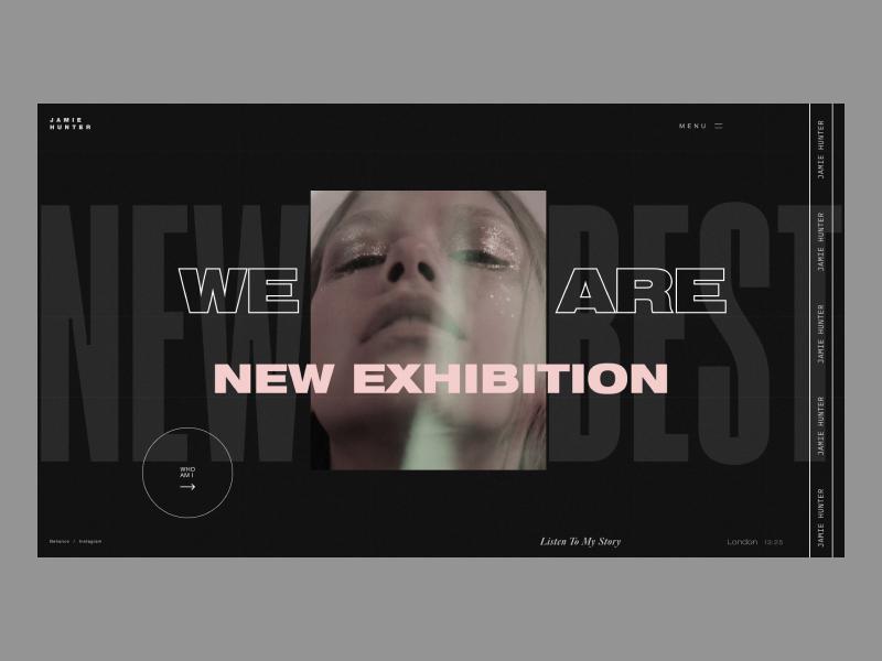 Jamie Hunter photography photo grid blog branding fashion typography design webdesign website interface web design concept web ux ui
