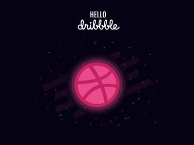 Planet Dribbble illustration debut dribbble plan flat