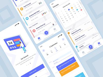 Harian Scheduler design callendar vector minimal illustration icon management app uidesign mobile ui schedule aplication app mobile ui