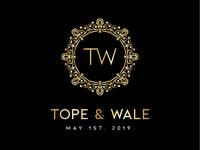 Tope And Wale Wedding Logo