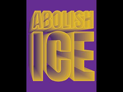 Abolish Ice illustration political art political poster graphic design