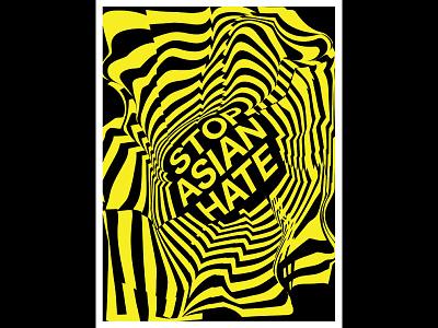Stop Asian Hate political poster political art poster illustration graphic design