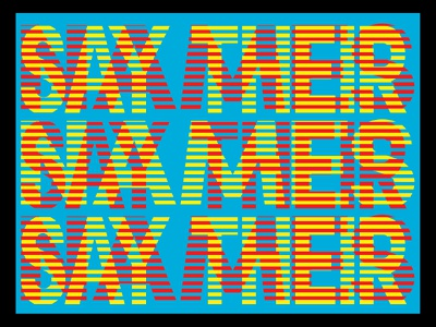 Say Their Names political poster political art poster illustration graphic design