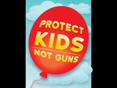 Protect the Kids political poster political art poster illustration graphic design