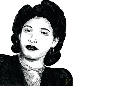Abuela portrait illustration illustration