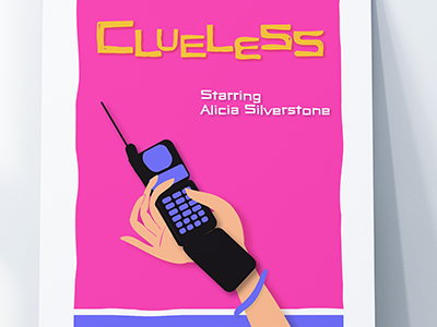Clueless Movie Poster illustration graphic design saul bass poster movie