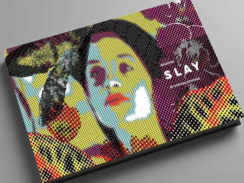 Slay stationery packaging graphic design branding brand makeup neutral gender