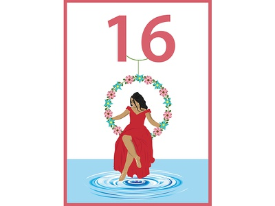 Nayeli S Sweet 16 Birthday Invitation birthday artist creative graphic illustrator photoshop vector sweet16 invitation illustration drawing art