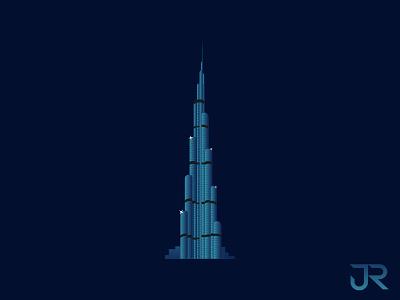 Burj Khalifa Illustration artist creative graphic illustrator vector animation dubai logo invitation illustration drawing art