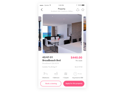 Property page - Real estate app sketch app design interface real estate user experience user interface app ui