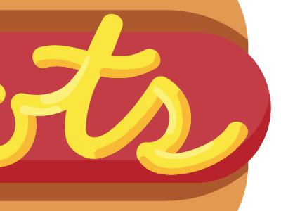 Mustard Typography typography hot dog type script