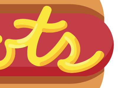 Mustard Typography typography hot dog type script