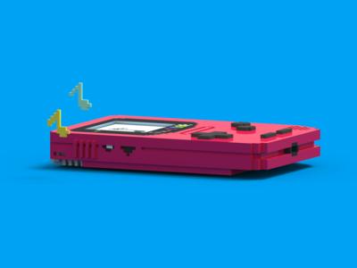 Nintendo Tapes Mixtape Cover - Magicavoxel (Angle 2)