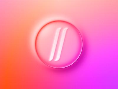 Neumorphism Test I: My Logo css button approach concept brand logo neumorphism neumorphic