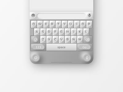Neumorphism Test III: iOS Keyboard neumorphic css neumorphism concept style sketch iphone ux ui