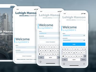 Lehigh Hanson Apps Concept 001 sketch design ux ui iphone app concept