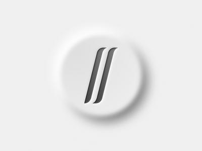 Neumorphism Test IV: New Personal Logo branding design style neumorphism sketch logo brand concept