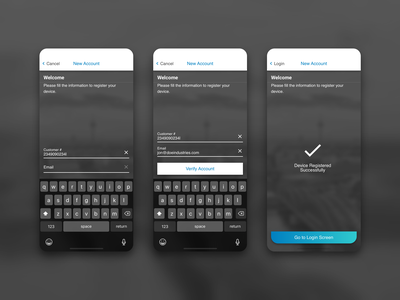HCStyle - Signup Concept iphone style sketch design ui ux concept app
