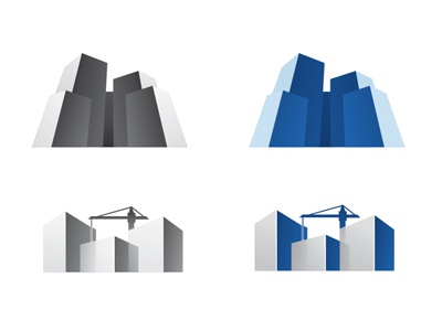 Playing with dimension. dimension depth construction branding 3d progress design corporate identity buildings logo mark