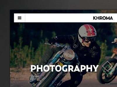 Flat UI Floating Navigation Bar - Photography Website