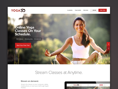 Yoga Streaming Website Flat UI