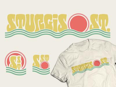 Sturgis Street Beach Identity type vintage branding identity typography logotype lettering logo