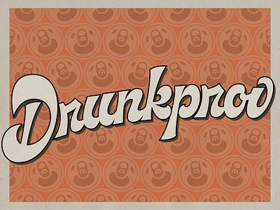 Drunkprov Script Logo typography lettering design identity logo type design script lettering lettering logo