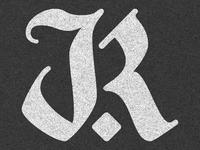 Blackletter 'JR' Monogram