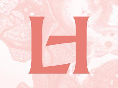 LH Monogram branding identity logo lettering type monogram