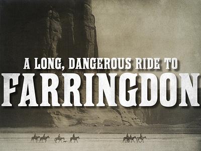 Free Farringdon Typeface freefont resource vintage typeface design font type design typeface type