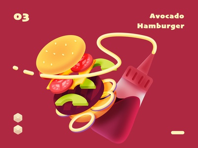 isometric hamburger