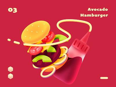 isometric hamburger hamburger food isometric series sketch illustration design ui color