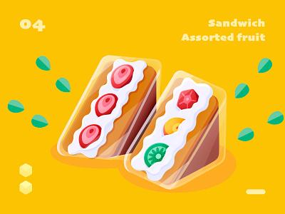isometric sandwich transparent 2.5d sandwich food isometric sketch series illustration design ui color