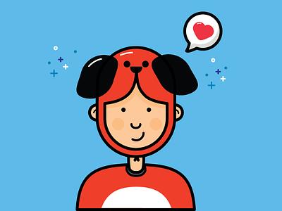 Dog Custome tshirt custome disguise human dog avatar