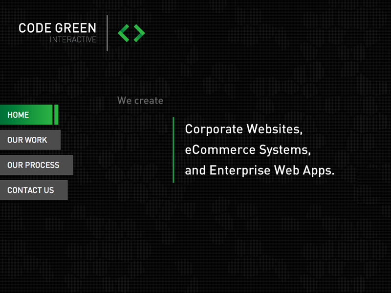 Code Green Interactive Home website home page