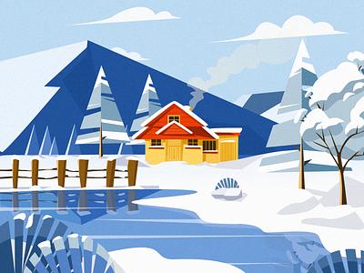 Snow/Winter design illustration
