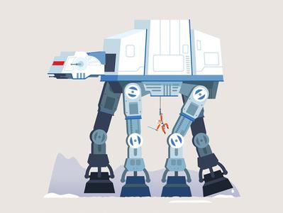 AT-AT Attack mech hoth atat at-at luke skywalker the empire strikes back star wars