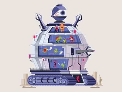 Technodrome Terror tmnt in time technodrome teenage mutant ninja turtles turtles in time tmnt