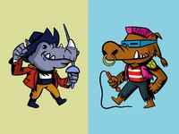 rocksteady and bebop mutant tmnt teenage mutant ninja turtles bebop rocksteady