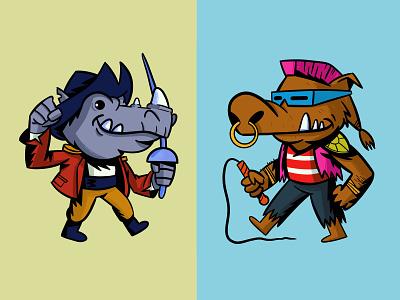 rocksteady and bebop mutant tmnt teenage mutant ninja turtles bebop rocksteady