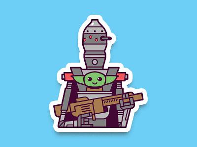 IG-11 and Baby Yoda star wars droid baby yoda mandolorian ig88 ig11