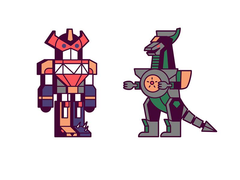 Zords dragonzord megazord power rangers